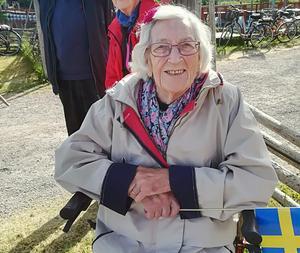 Anna-Greta Ihlis gladdes åt sina familjemedlemmars insatser på flottbroscenen. Foto: Seija Lorentzon
