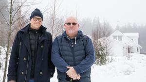 Håkan Åhman och Christer Samills som driver Håppfullt boende i Dalarna.