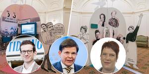 På lördag ser chefredaktören Ehrling Perers, talmannen Norlén och riksdagspolitikern Strömkvist till att utställningen Fira demokratin blir något alldeles extra.