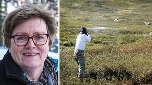 Gun Fahlander, ordförande för Jägareförbundet Mitt Norrland, hoppas på konstruktiva lösningar i samförstånd efter Girjasdomen.
