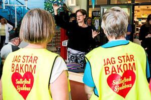 Gudrun Schyman (Fi) har engagerat sig för BB-ockupationen i Sollefteå.