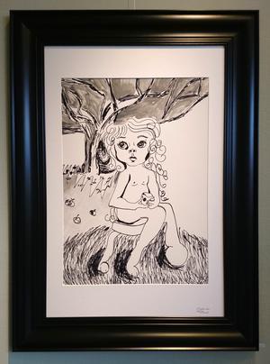 Ann-Louise Gyllander: Barn med äpple.