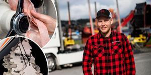 Emil Hagelberg är klar för ännu en lastbilsträff i Ramsele.