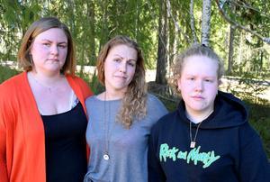 Anna-Karin Hällman, Pernilla Myrberg och Maya Myrberg. Tre av Per Myrbergs fyra barn.