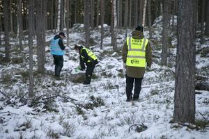 Den försvunne mannens telefon har tidigare pingats i ett området kring Gussiberget i Ljusne.
