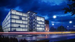Det nya p-huset kommer att få 450 bilplatser och bygget ska starta i september. Bild: Skifu