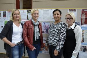 Anette Sintorn, Mia Berglund, Berivan Mohammed och Ingela Nordlander är fyra av de nio sundsvallsbor som arrangerar insamlingskväll för Kobane.