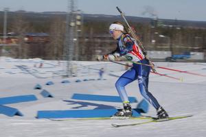 Sofia Myhr är den första åkaren från Hede som ingår i ett A-landslag på damsidan.