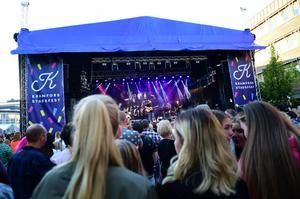 Chris Kläfford var en av artisterna på Kramfors Stadsfest.