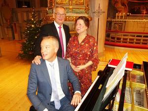Nordwalls trio med pianisten/organisten Ulf Nordwall, trummisen Kenneth Nordwall och sångerskan Maria Bervelius. Foto: Christina Häggkvist