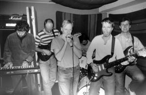 Efterdropp 1991. Medlemmarna var , från vänster, Ingvar Sundström, Pelle Höglund, Kjell Svensson, Lars-Göran Wiklund, Christer Litfeldt och Anders Nilsson. Foto: ÖP:s arkiv
