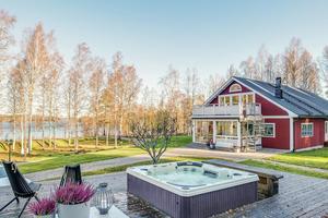 Denna villa på Snöåvägen i Ludvika kommun kom på sjunde plats på Dalarnas Klicktoppen. Foto: Carina Heed