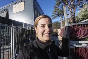 Frida Danhard har lång erfarenhet av trädgårdsbranschen och tror på Gröna kullens koncept.