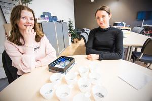 Nike Borgs och Clara Pettersson driver tillsammans Butterfly UF. De tillverkar och säljer budskapsarmband och skänker en del av vinsten till forskning mot psykisk ohälsa.