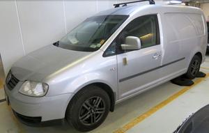 Andra flyktbilen, en Volkswagen Caddy, återfanns i Färsna. Bild från polisens förundersökning i Efterlysts film i TV3.