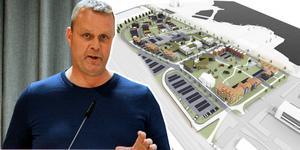 Östernäs har förordats som placering för ett nytt äldreboende – men Richard Brännström vill att Gärdeåsen detaljplaneras om Östernäsområdet skulle stöta på patrull. Bilden är ett montage.