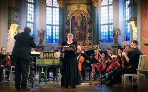 Sopranen Christina Knochenhauer var tillbaka i Härnösand för att sjunga Johannespassionen.