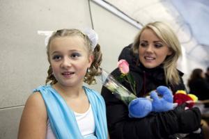 Maja Hibner-Wigh fick beröm av tränaren Elisabeth Pant för sin fart och prestation.