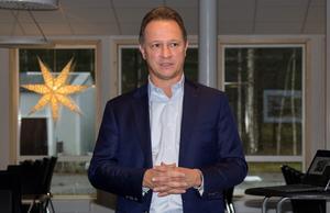 USNR:s president Dale Brown besökte företagets nya kontor i Söderhamn.