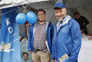 Kristdemokraterna Urban Ericsson och Per Schmidt hoppas på minst ett mandat i Hällefors kommunfullmäktige.