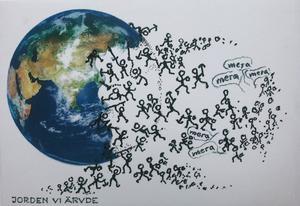 Kurt Gustafsson från organisationen Framtiden i våra händer, skriver om vikten av att forma en ny kultur, där alla livets rika värden möts i samklang och harmoni? Där inte ruiner utan lustgårdar skapas för oss och kommande generationer. Illustration: Framtiden i våra händer