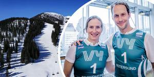 Marit Björgen och Anders Södergren är ambassadörer för touren, som sätter åkarna på tufft prov under sprinttävlingarna i Åre. Foto: TT