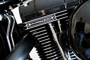 Trots att motorcykeln är i nyskick längtar Magnus efter att börja bygga om den.