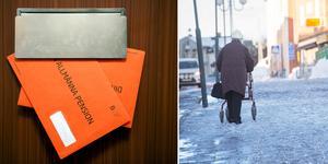 Orangea kuvertet har fått ett lite annat syfte än tidigare. Bilder: TT