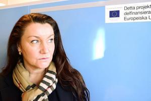 Maria Jonasson är handläggare på Tillväxtverket och sköter tillsynen av bygget.
