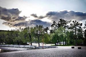 Här i Badhusparken våldtogs en 18-årig kvinna under natten till i går.  Foto: Anneli Åsén