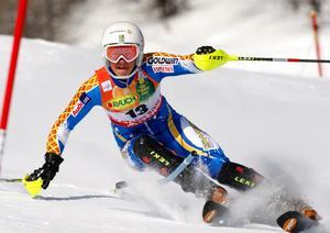 VM i Garmisch blir Fridas tredje i ordningen. I senaste mästerskapet (bilden) i Val d'Isere 2009 körde hon in på 15:e plats i slalomen.