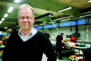 Göran Wärdell säger att tältordern kom i rätt tid. Orderingången har varit skral på sistone och Lindevalls industri behövde uppdraget för att behålla personalstyrkan intakt.  Foto: Ulrika Andersson