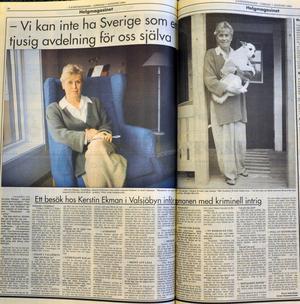 Lena Gunnarsson träffade författaren i huset i Valsjöbyn.