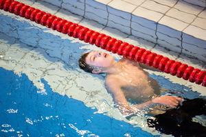 Daniel Ruijs från Borlänge pustar ut efter målgång.