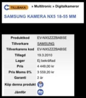 Samsung kommer med billigare systemkamera