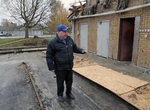Här hade vi även en tvätthall, men nu är allt borta, konstaterar Birger Frisendahl.