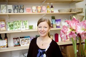 nöjd. Anette Nilsson tycker det är roligt att som egen- företagare få bestämma själv.