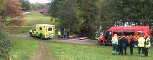En kropp har hittats vid Herrhagsvägen. Foto: Jennie-Lie Kjörnsberg