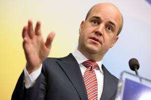 ... stastminister Fredrik Reinfeldt.