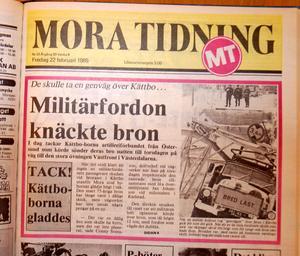 Fredagen den 22 februari berättade MT om hur militären körde sönder bron i Kättbo.