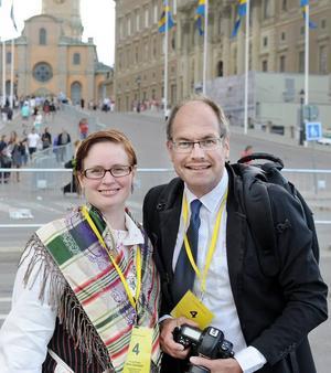 Helahälsingland.se:s bröllopsteam: Reporter Anki Svärdhagen och fotograf Ola Svärdhagen.