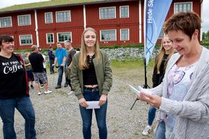 Lina Malmgren  vann andra pris i ankracet.