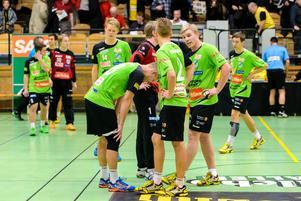 Rimbospelarna deppar efter förlusten mot Sävehof i Partillebohallen.