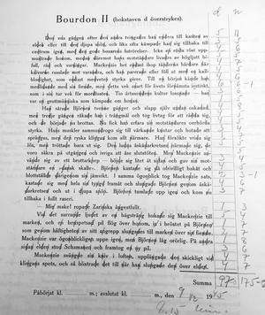 En del av ett begåvningstest i en journal från rättspsyk. Testet gjordes i december 1945.
