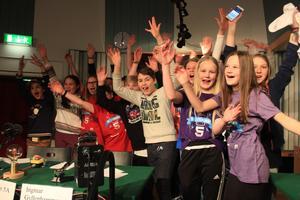 Friggaskolans klass 5A kvalificerade sig till den tv-sända finalen av