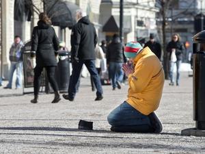 Tiggare på Sundsvalls gator.