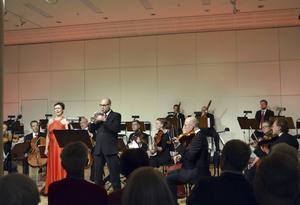 Sopranen Lisa Henningssohn och piccolatrumpetaren Marcus Petersson i Händels