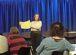 Kerstin Sandstedt visade upp en affärsmodell under Kulturtinget i Sandviken.