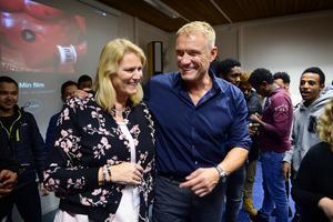 När Annikas bror, skådespelaren Dolph Lundgren, föreläste för eleverna på språkintroduktionsprogrammet på Västermalms skola 2017, visste inte alla lärare om att han skulle komma.