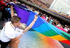 Situationen för hbt-personer i Ljusdal kan ibland vara långt ifrån den festivalyra som just nu råder på Stockholm pride. Foto: Fredrik Persson/Scanpix/Arkiv